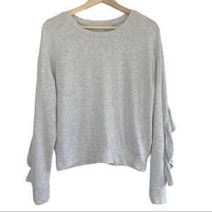 Cupcakes and Cashmere Soft! Grey Ruffle Sweater